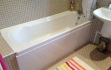 Completed bath installation